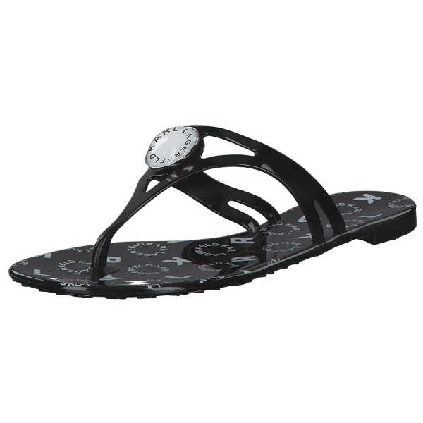 Karl Lagerfeld Jelly Button Damen Sandalen 80084 Schwarz